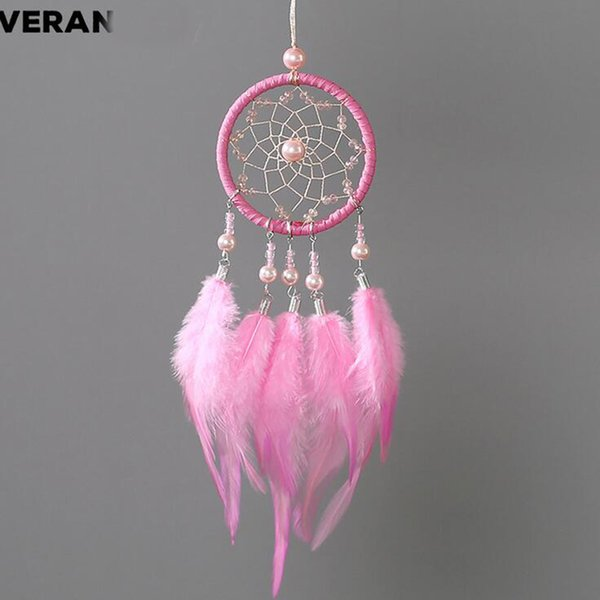 Car pendant feather dream catcher hanging art craft home decorations car rearview mirror trimming decoration accessories creativ