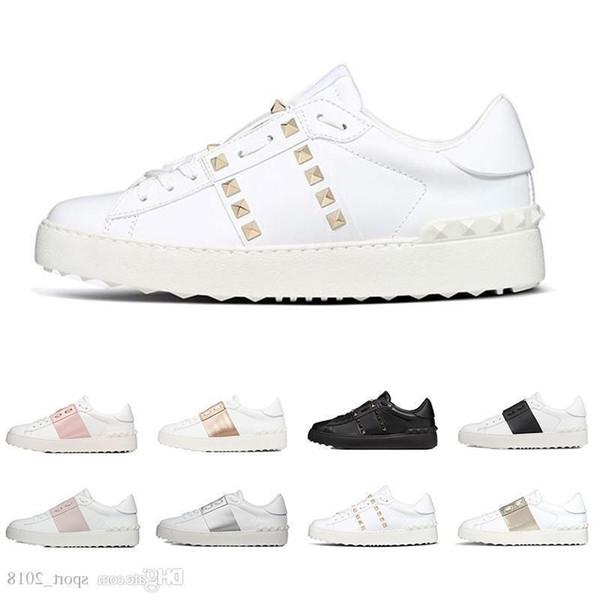 дизайнерская обувь модные роскошные кроссовки для мужчин женщины белый черный красный натуральная кожа повседневная обувь бег трусцой ходьба