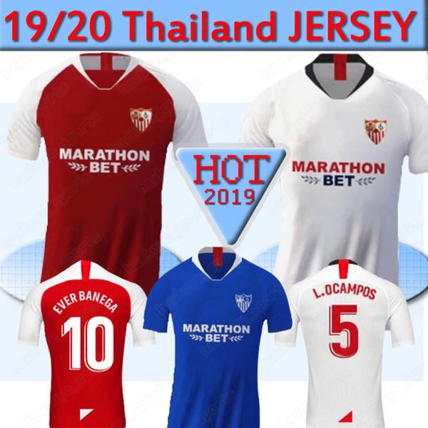 Thailand Sevilla Soccer Jersey 19 20 home away Seville fc EVER BANEGA BEN YEDDER GEIS camisetas de fútbol Football Shirt men 2019 2020
