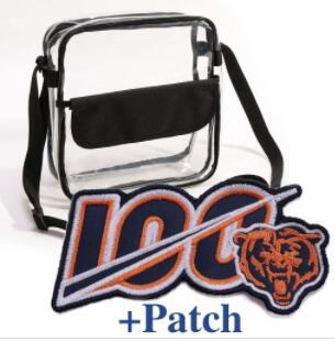 New arrivals Clear Purse Stadium Approved Bag + PATCH with Zipper and Shoulder Strap