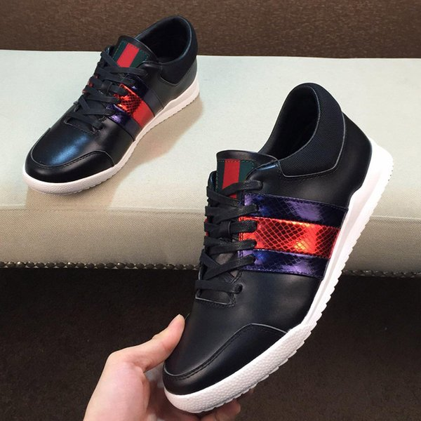 2019 New Arrival Fashion Mens Outdoor Casual Shoes Luxury Designer Sneakers Shoes Top Quality Genuine Leather Italy Shoes with box