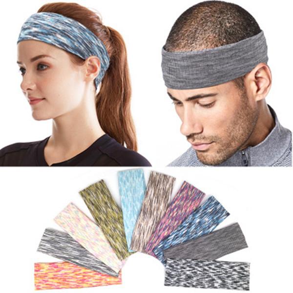 10 colori assorbenti sport fascia del sudore fascia per gli uomini donne yoga fasce per capelli sport testa fasce per il sudore ZZA1008