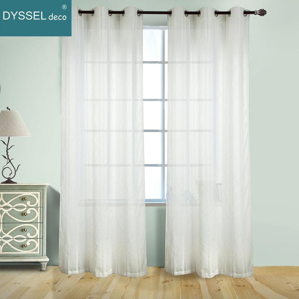2019 Dyssel Deco Fancy Stripe Home Decorate Sheer Window Cafe Curtain Rod  Pocket Grommet For Living Room Bedroom From Douglass, $36.23 | DHgate.Com