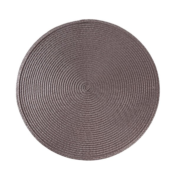 Round Placemat Home Supplies Mats Pads Cloth Pot Insulation Mat Pp Table Top Non-Slip Dish Anti-Hot Threaded Table Decoration