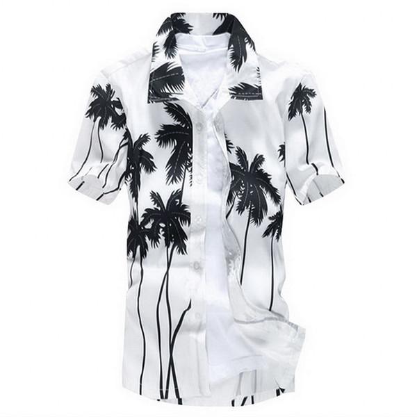 NIBESSER 2019 Neue Sommer Herren Kurzarm Strand Hawaiian Shirts Casual Baum Gedruckt Shirts Plus Größe 3XL Mens Fashion Tops