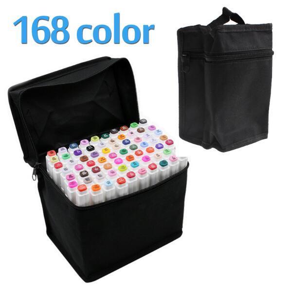 TOUCHFIVE Marcador de Arte Marcadores de Dupla Cabeça Conjunto de 168 Cores Mark Caneta de Design de Animação de Óleo de Álcool Pintura Marcadores de Esboço Suprimentos de Arte