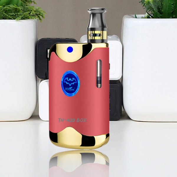 510 Thread Battery Starter Kits 650mAh Battery Vaporize Kit with 0.5ml Ceramic Coil Cartridge Thick Oil