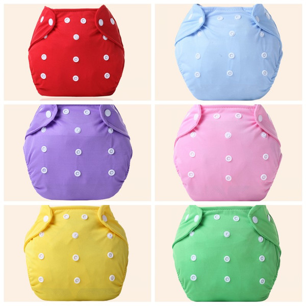 Baby Washable Cloth Diaper Ventilation Waterproof Adjustable Diapers Colorful Four Seasons New Born Soft Infant Nappy 4 2zz O1