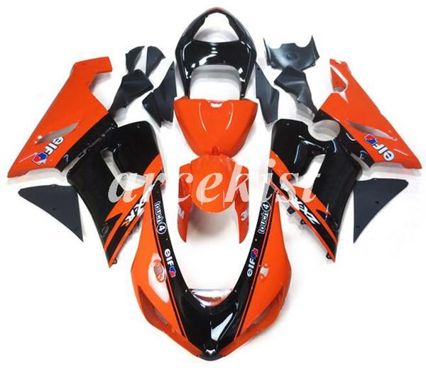 New Style ABS carénages moto Kit Fit pour KAWASAKI ZX6R 599 636 599 636 ZX6R 2005-2006 05 06 ensemble de carrosserie carénage froid orange sur mesure