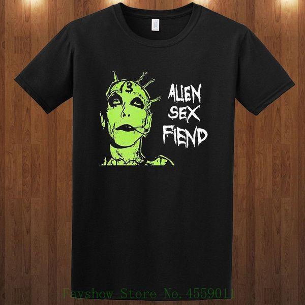 Wholesale Discount Sex Fiend Tees Gothic Rock Nik Fiend , Mrs. Fiend S M L Xl 2xl 3xl T Shirt Printed Mens Men T Shirt