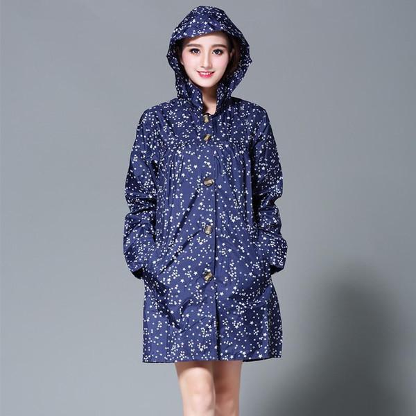 long raincoat women poncho waterproof Female Rain Wear Outdoors Rain coat Ponchos capa de chuva chubasqueros mujer Little Star