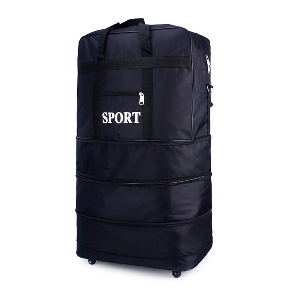 Air Checked Bag Bagages Voyage Universel Roue Pliable Bagages Sac De Rangement Transport T726 Oxford Imperméable À L'eau Voyage Emballage Cubes