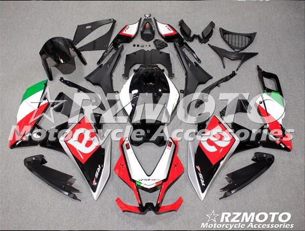 Nueva motocicleta ABS Carenado para Aprilia RS4 50/125 2011 2012 2013 2015 2015 RS4 50/125 1112 13 15 Inyección Bodywor Blanco Rojo QV