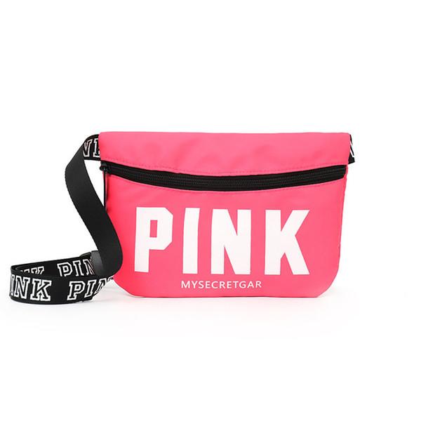 Min Pink Fanny Pack Beach Diagonal Bag Card Holder Chest Bag Casual Heuptas Waist Women Pockets Pouch Belt