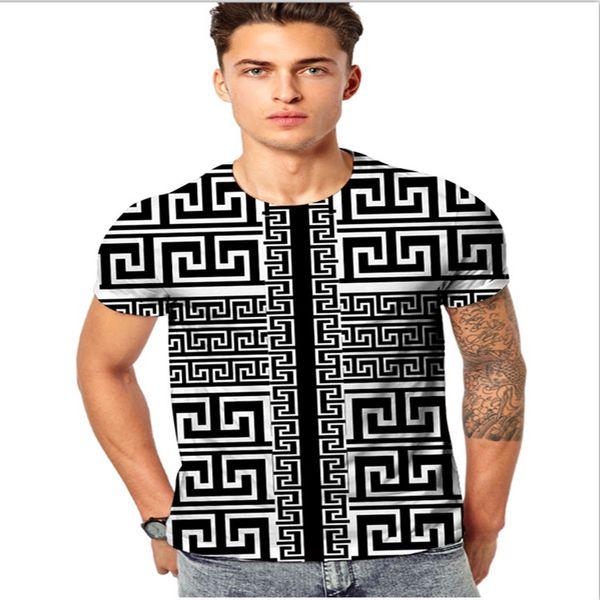 Brand New Men T shirts Short Sleeved Slim Fit T shirt Medusa 3D Floral Print Funny T shirts Mens Tees Tops