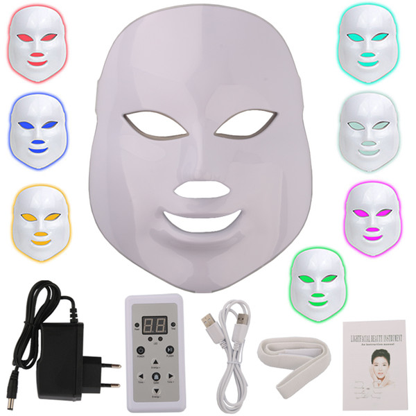 7 Color Led Therapy Mask Microcurrent Led Facial Mask For Skin Rejuvenation Wrinkle Acne Removal Skin Care Beauty machine