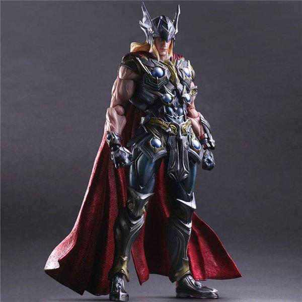 Catoyfirm Sanat Kai Thunder Thor Eylem Şekil Avenger Süper Heroes Model Oyuncak Toplama Hediye oyna 27cm