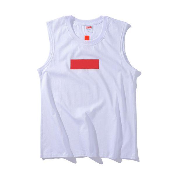 Caja logo marca camisetas sin mangas para hombre diseñador de alta calidad moda camiseta sin mangas letra clásica impresión de tendencia tendencia camisetas sin mangas Algodón con marca camisetas