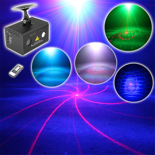 Mini Remote 20 Patterns RG Stage Laser Projector Lighting Effect DJ Party Dance Disco Led RGB Water Galaxy Decoration Light 110V-240V