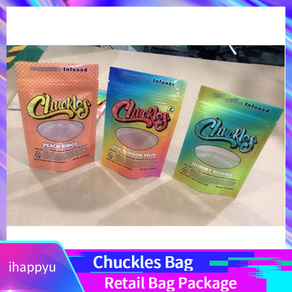 New Chuckles Flavor Bag Herb Flower Zipper Bag Dry Tobacco Retail Bag Package Packaging Hot Sale North America