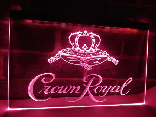 LE104-Crown Royal Derby Whisky NR Cerveja Bar Sinal de Luz home decor artesanato