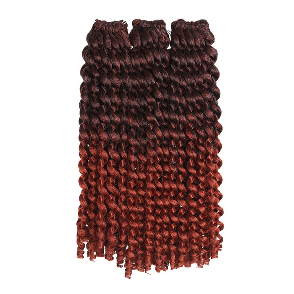 Synthetic Braiding Hair Extension Crochet Braids Jumpy Wand Curl Kanekalon ombre color For Black Woman Jamaican Bounce