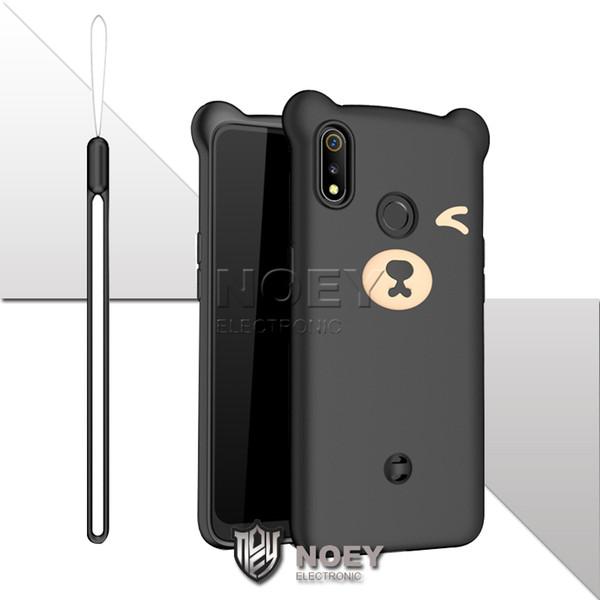 Funda blanda para teléfono móvil Cute Bear Hanging Rope fashion Cellphone Shell Fundas a prueba de golpes para iPhone X XR XS MAX 6s 7 8 plus