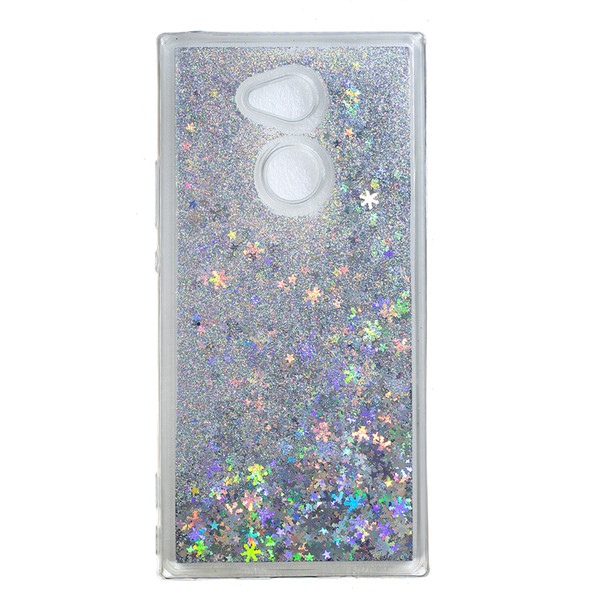 Stokta Sıvı Quicksand TPU Yumuşak Kılıf Sony Xperia Için 1 10 L3 L2 XA2 XA3 XZ3 XZ4 Kompakt Z5 Bling Dinamik Cilt Kapak