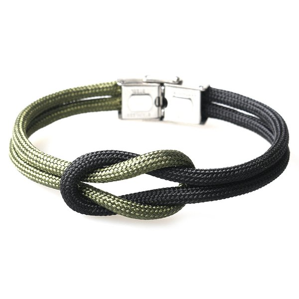 2019 New Fashion Cool Mens Jewelry Handmade Multicolor Paracord Bracelet with Stainless Steel Buckle 5PCS/Set