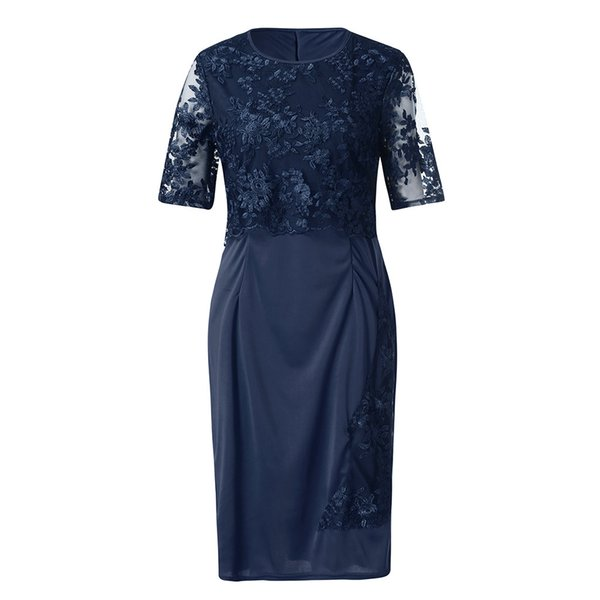 Women Dresses Spring Summer Dress Women Fashion Lace Elegant Mother Of Bride Dress Knee Length Plus Size Dress
