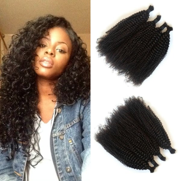 100% Human Hair Afro Kinky Curly Bulk Hair For Braiding Natural Color Can Be Dyed For Black Women Non Processed FDshine HAIR