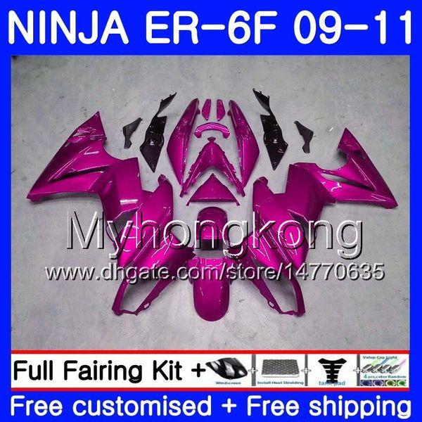 Body For KAWASAKI NINJA 650R ER 6F ER-6F 2009 2010 2011 Light rose full 252HM.34 Ninja650R ER6 F ninja650 ER6F 09 10 11 Fairing Kit+7Gifts