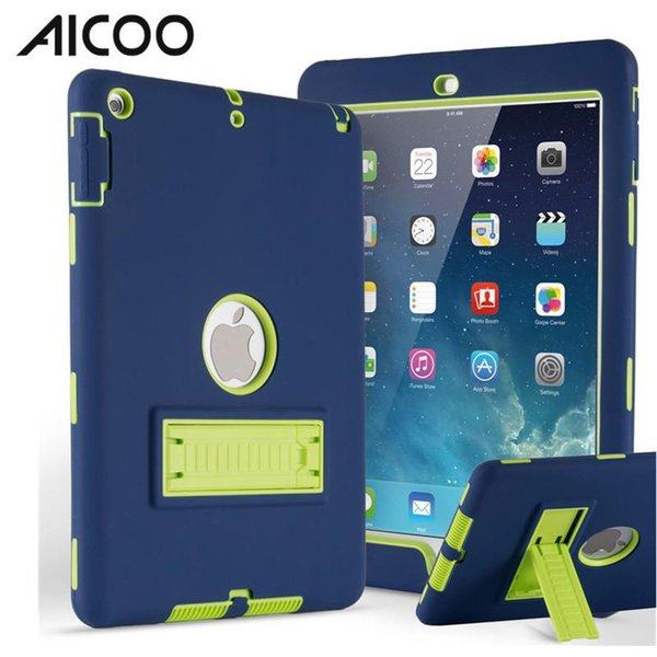 AICOO Robot C1 3 in 1 Hybrid Shockproof Silicone PC Tablet Case with Kickstand for iPad mini 1 2 3 Air 1 OPP