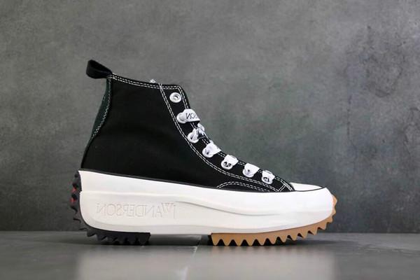 Ejecutar la manera superior de la estrella x JW Anderson de suela gruesa de las zapatillas de deporte pantshoes de las mujeres y los hombres de los zapatos corrientes, zapatos que caminan ocasionales de moda