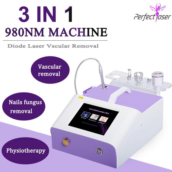 НОВИНКА 980 нм машина для лечения сосудистых звездочек Лечение сосудов лица Лазерный диод 980 нм для удаления грибка ногтей Физиотерапия боли