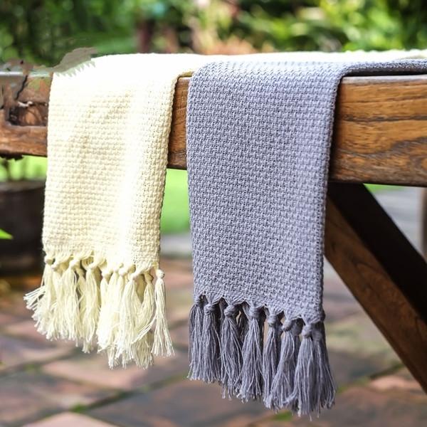top popular 2pcs european style high grade napkin cloth tea towel cup cloth pure cotton western meal pad absorbent not off wool cloth tassel napkin ho 2021