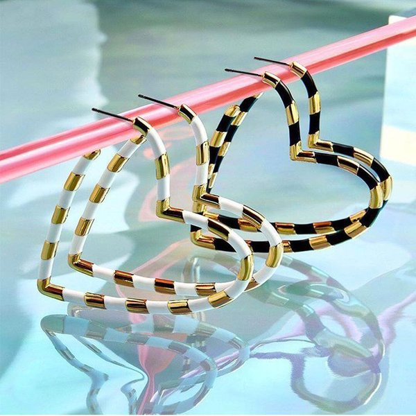 Ethnic Multi Color Metal Heart Drop Earrings Wedding Gifts Ba Fashion Love Engagement Jewelry Dangle Earring Bohemian