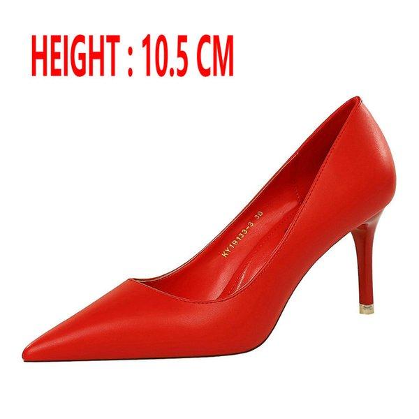 Rojos de tacón 10,5 CM