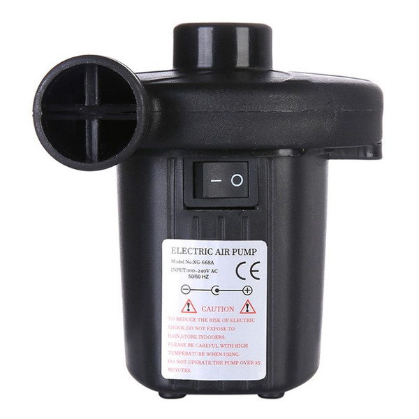 """110V 150W Electric Air Pump 4/"""" Inch With Three Nozzles Inflates Deflates 50hZ"""
