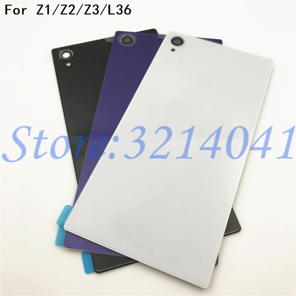 Original New Rear Door Battery Back Housing Glass Replacement Cover Case For Sony Xperia Z L36H Z1 Z2 Z3 Battery Cover
