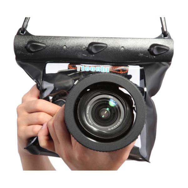 SLR bietet Tteoobl GQ-518L Kamera wasserdichter Packsack 20 m Unterwassertauchkamera Gehäuse Tasche Packsack für Canon Nikon DSLR SLR