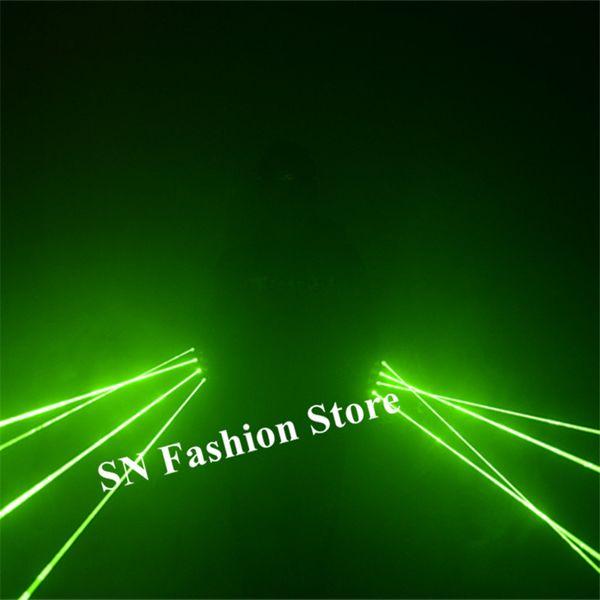 SJ82 Rechargeable laser vert gants dj danse porte led costume homme man show laser homme projecteur 4 pcs têtes party event disco performa dj