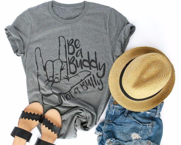 Mode-T-Shirt Grunge Tumblr Party-Stil Tops Goth Shirt ein Freund Krawatte-DYE UNISEX-T-Shirt Hand Grafik Vintage Zitat Slogan Frauen