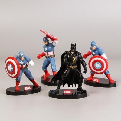 avenger action figures for kids 4 styles cartoon figures Iron man captain america action figures cake decorations car decoration supplies