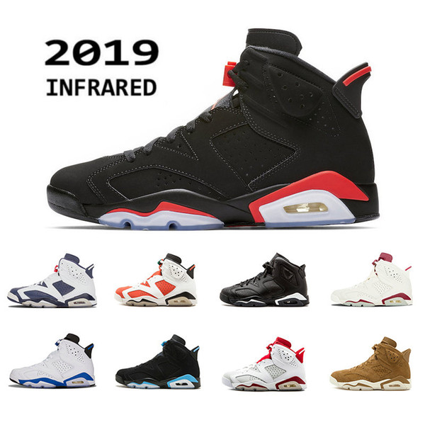2019 new black infrared 6 bred mens basketball shoes alternate angry bull 6s men sports blue wheat unc gatorade trainers sneakers 7-13