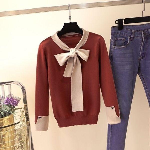 brick red pullover