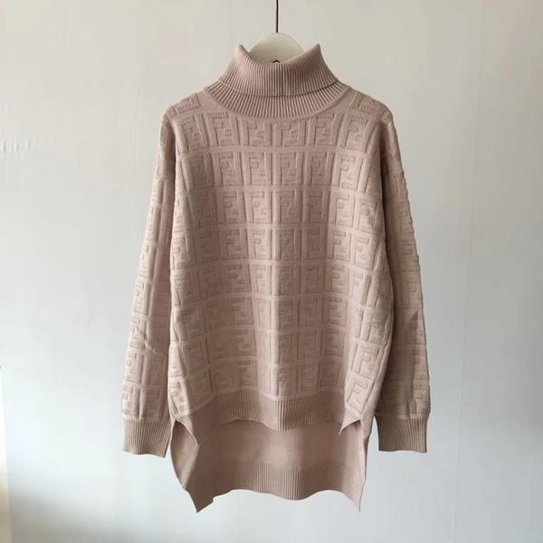 2020 FF nouvelles femmes chandails à capuchon Col F Lettre rouge jaune blouses tricot qualité Pull Femme fabriqués en usine