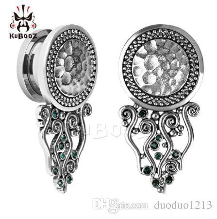 36 pc / lote venda quente Kubooz piercing nova chegada de aço inoxidável tampões para os ouvidos e túneis parafuso de volta medidores de ouvido brinco expansor de jóias corpo