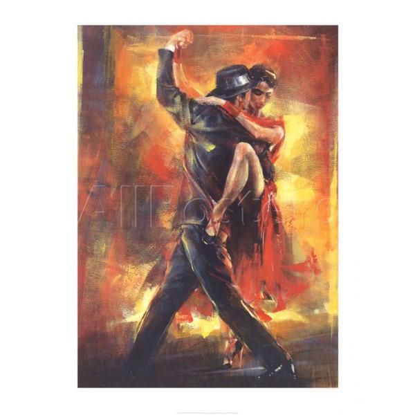 Dipinti a mano dipinti di Willem Haenraets Tango Argentino impressionista donna arte per arredamento murale