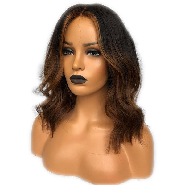 Highlights 13X6 Lace Front Human Hair Wigs With Baby Hair Ombre #30 Color Brazilian Remy Hair Full Lace Wig